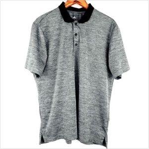 adidas Mens Size Medium Black Gray Golf Polo